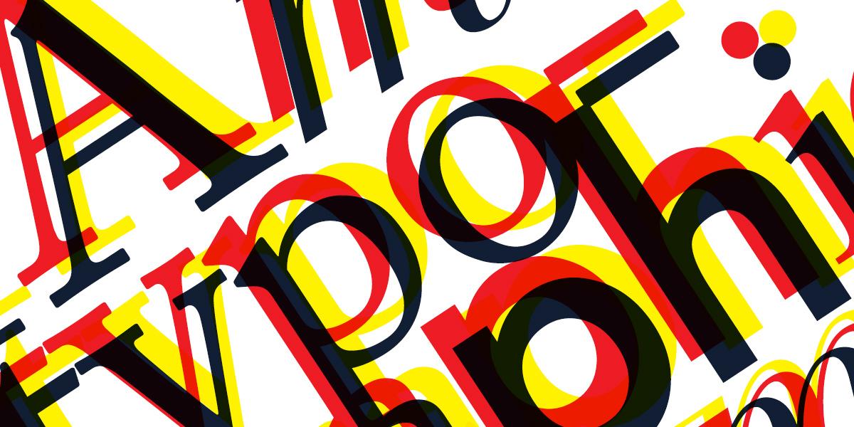 typographie : familles de caractère