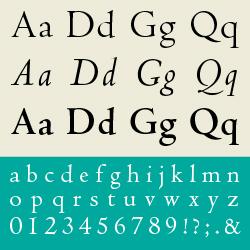 typographie : humanes