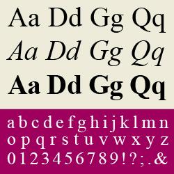 typographie : réales