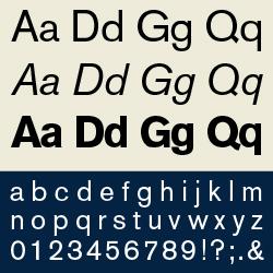 typographie : linéales