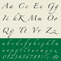 typographie : scripts