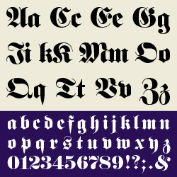 typographie : fraktur