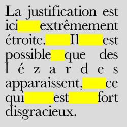 typographie : lézarde