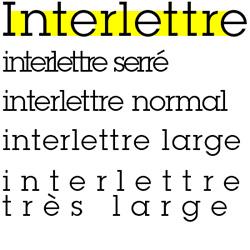 typographie : interlettres