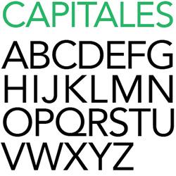 typographie : capitales