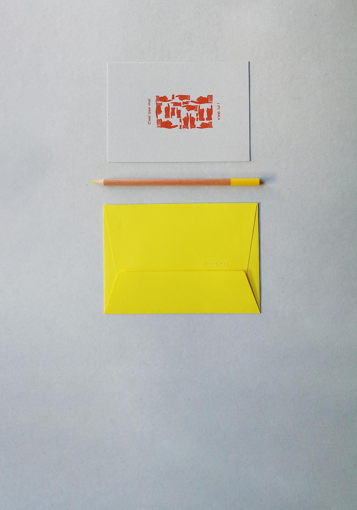 Carte letterpress accusation