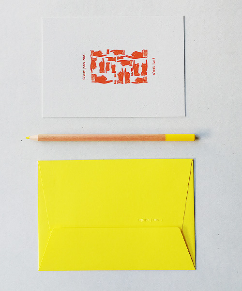 Carte letterpress dédouanement